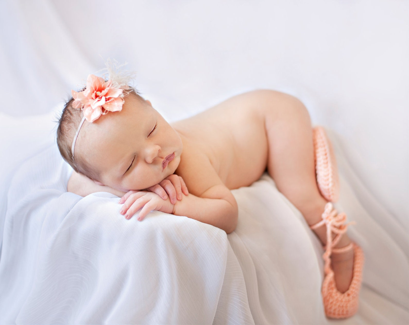 ready to ship ballet slippers, baby ballet booties, ballet baby shower