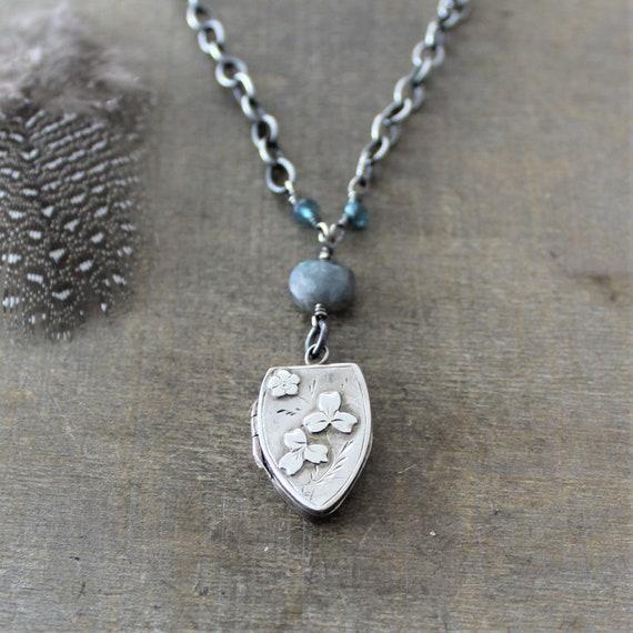 1889 Antique Locket Necklace, Heirloom Jewelry Ste