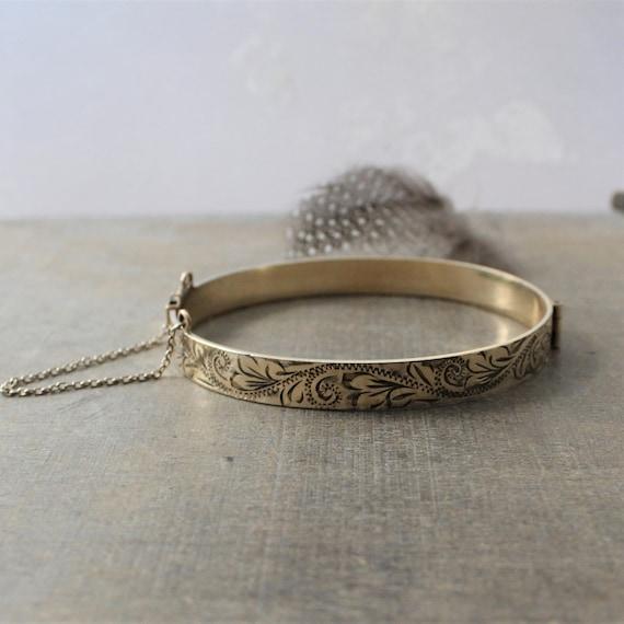 9 ct Rolled Gold Bangle Bracelet, Gold Cuff Bracel