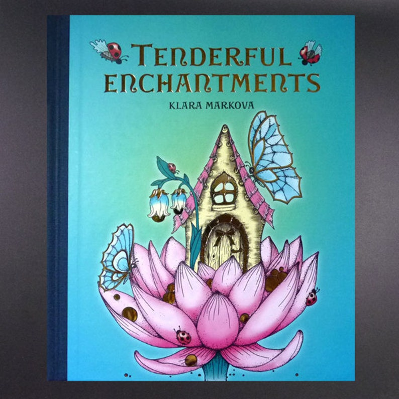 Tenderful Enchantments ENGLISH Language Unique Colouring Book image 0