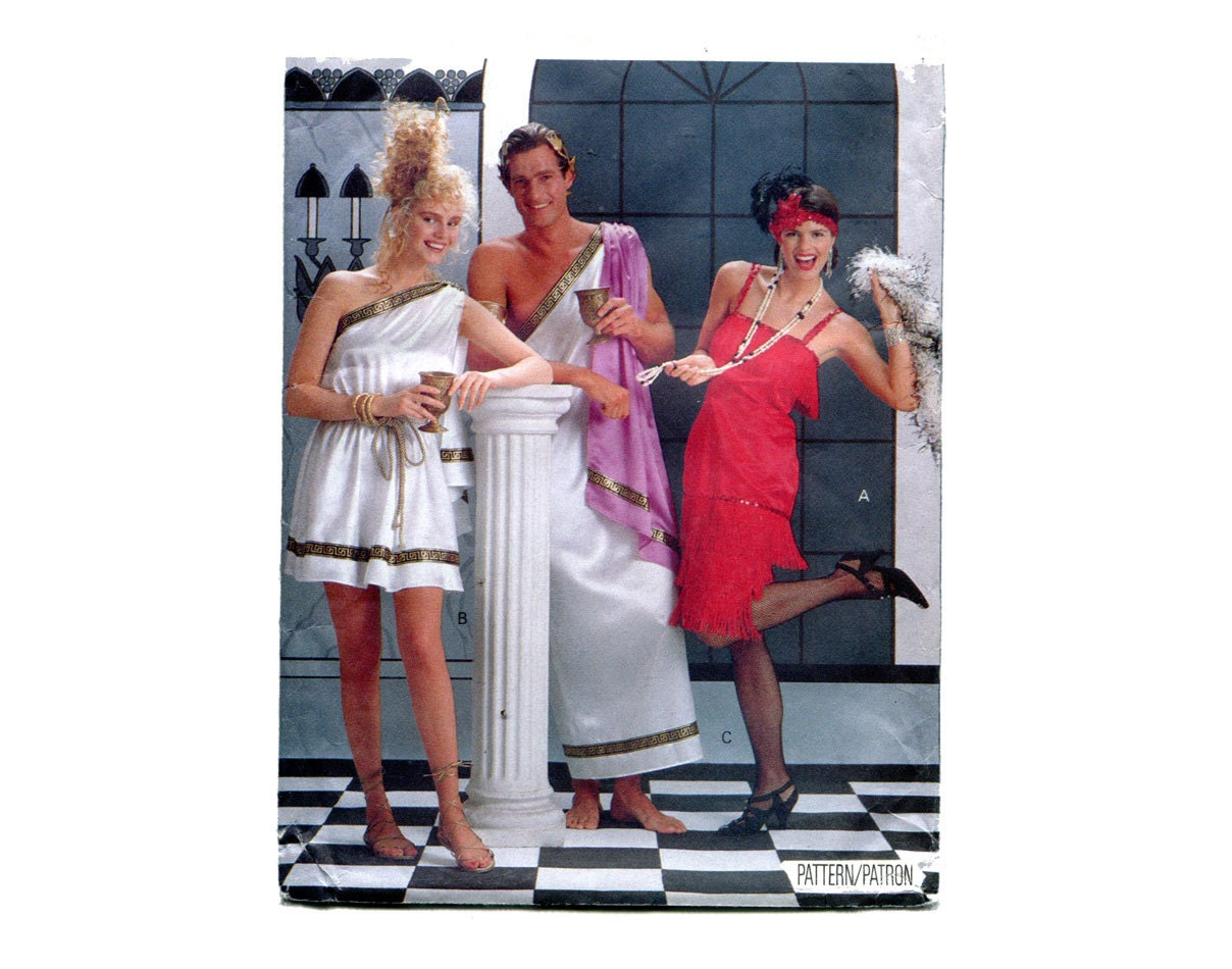 Flapper Goddess Toga Costumes Pattern His and Hers God ...