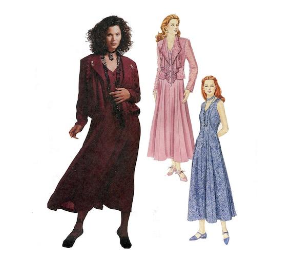 Rüschen-Jacke und Kleid Muster Passform und Flare V Neck | Etsy