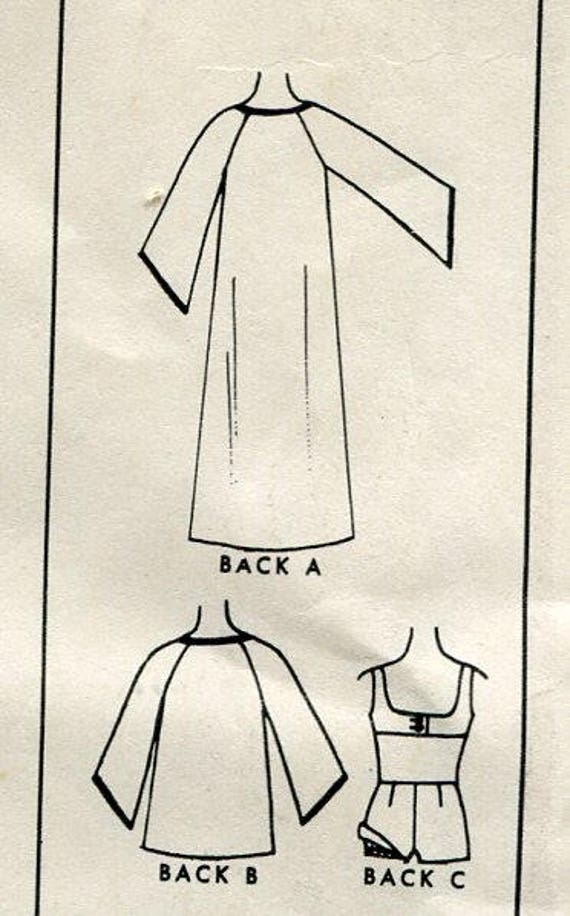 Traje de baño de la década de 1960 y chilaba patrón Boy Shorts | Etsy