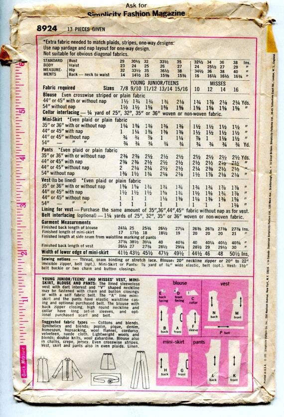década de 1970 vestuario patrón Collar acentuado Top una   Etsy