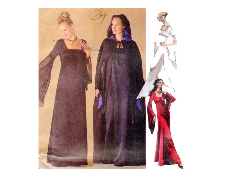 McCall/'s 2810 Formal Lined Gown /& Cape Pattern