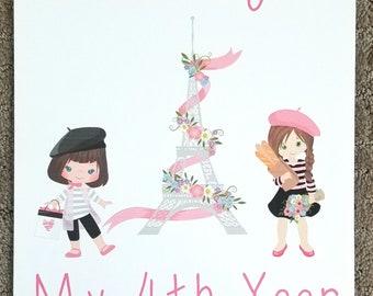 Oh la la Paris Girl Calendar ~ 12 Month Calendar