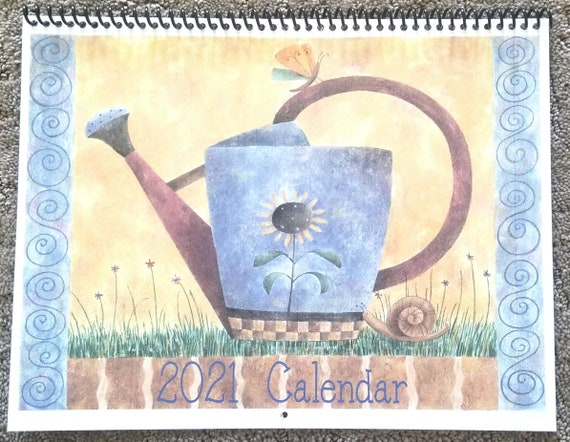 2021 Calendar Debbie Mumm Whimsical Garden | Etsy