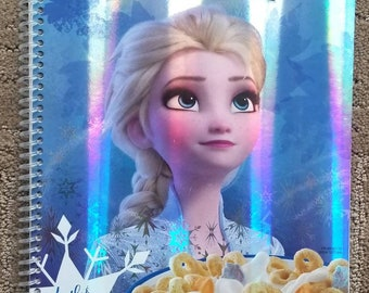 Frozen II Notebook, Recycled Set of 2, Great for home school
