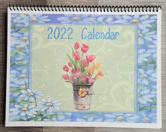 2022 Calendar Potted Flowers