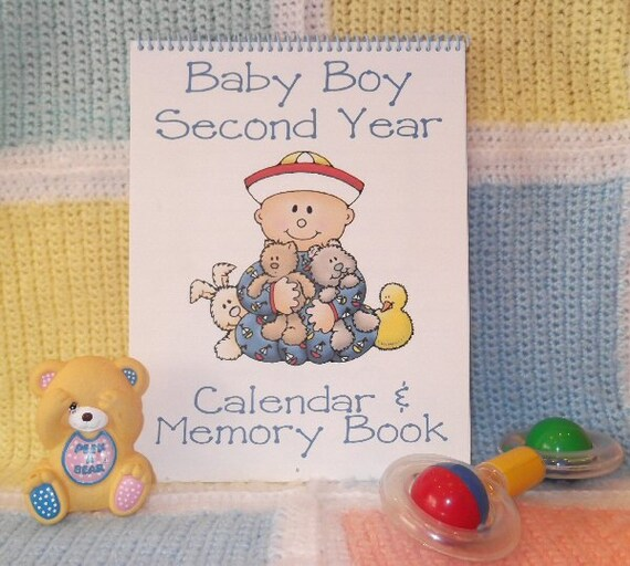 Second Year Baby Calendar And Memory Book For BOY Etsy