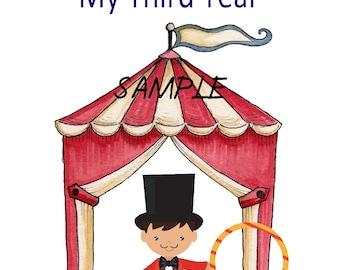 Under the Big Top Boy Calendar and Memory Book ~ 13 Month Calendar