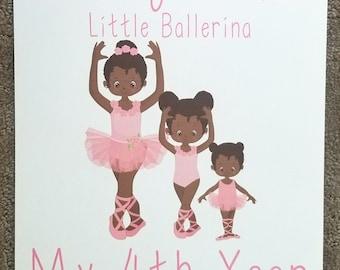 Little Ballerina African American Girl Calendar ~ 12 Month Calendar
