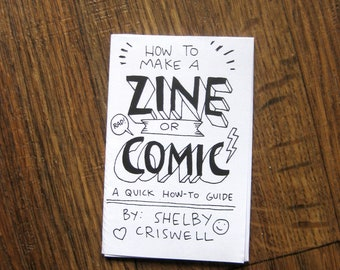 How To Make A Zine Or Comic Minicomic