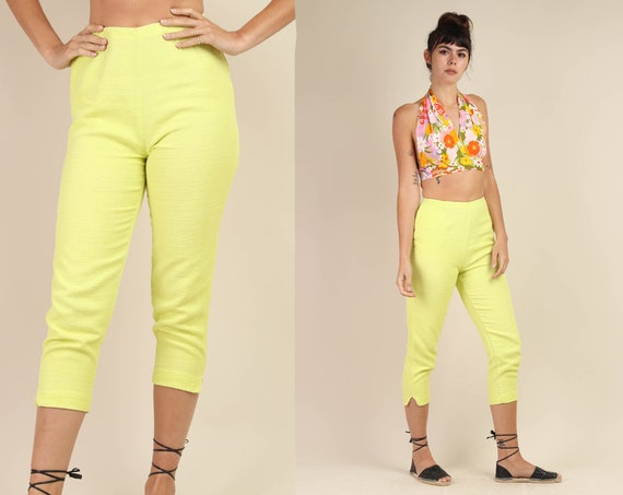60s CATALINA + CIGARETTE pants XS S / yellow pedal