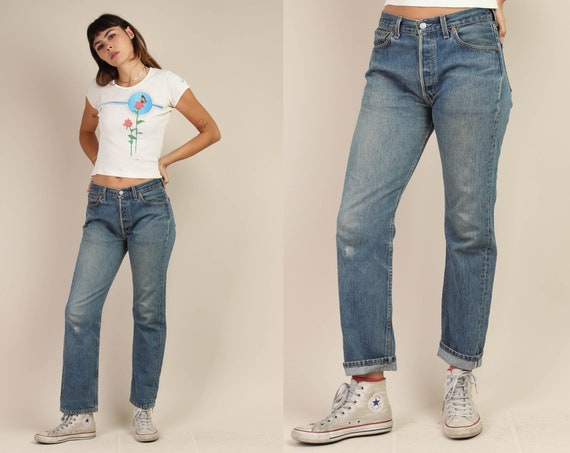 90s LEVI'S 501 jeans 27 / faded blue jeans true vi