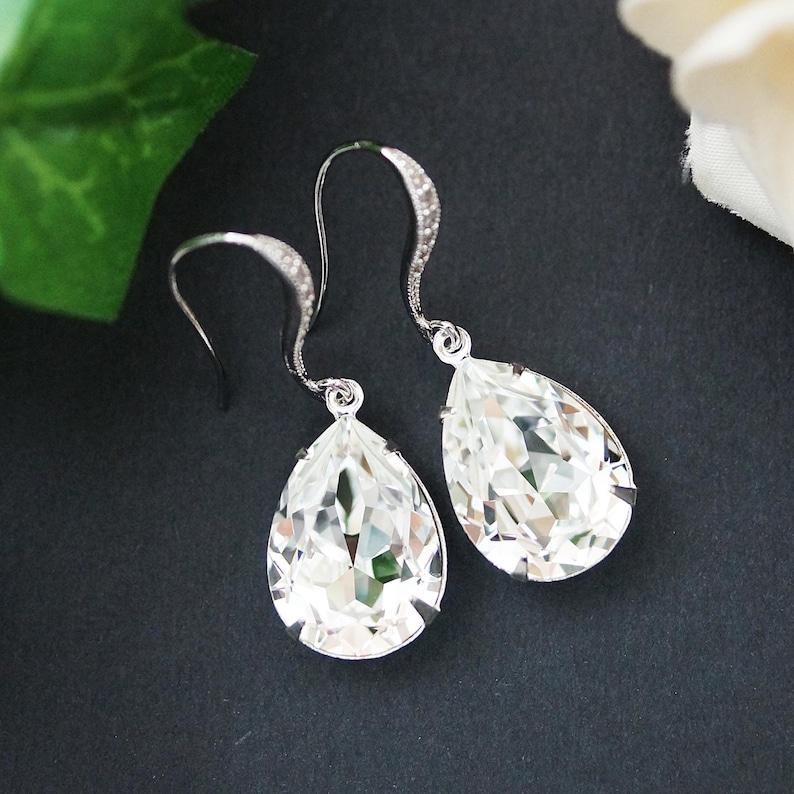 62decb6f1 Wedding Jewelry Estate Style Earrings Bridal Earrings | Etsy
