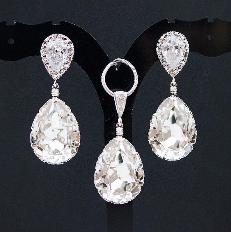 Bridal Jewelry Set Swarovski Crystal Jewelry Set Wedding  cb714ca74