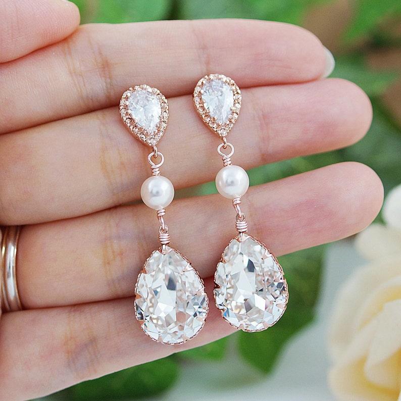 6c041a7c4 Wedding Jewelry Bridal Earrings Bridesmaid gift Bridesmaid | Etsy