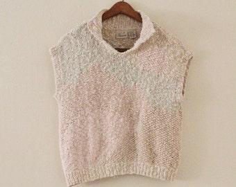 80's Pastel Knit Top