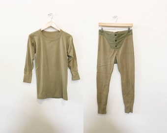 e846b8136266 1940s Army Issued Long Johns Set