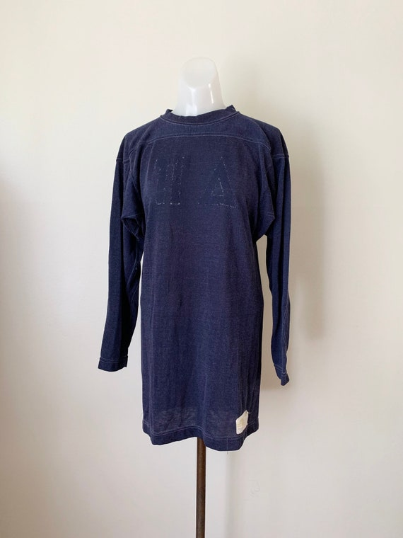 1960s Navy Blue Russell Southern Athletic Shirt S-