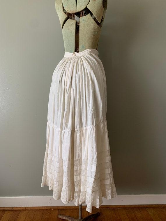 1920s Victorian Petticoat Skirt / vintage antique… - image 3