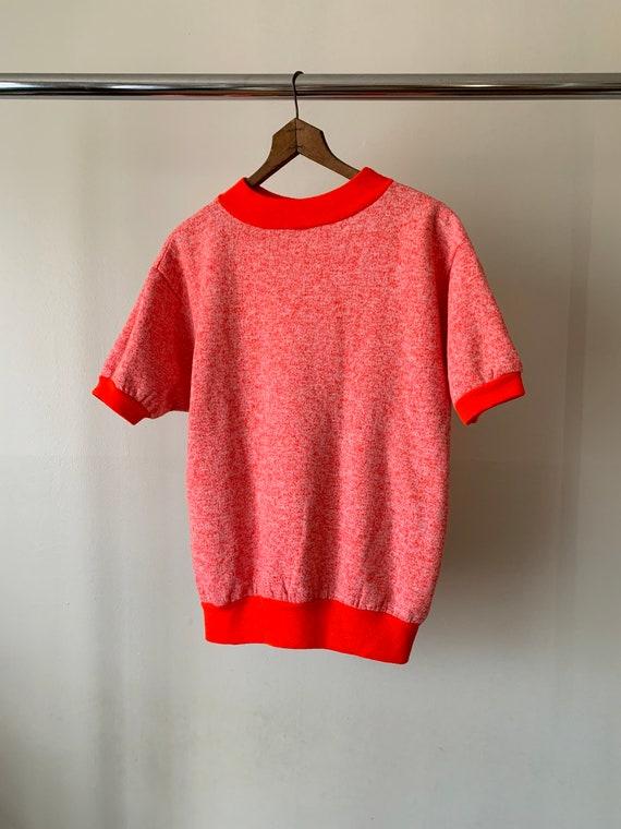 1960s Heather Red Short Sleeve Crewneck Sweatshirt