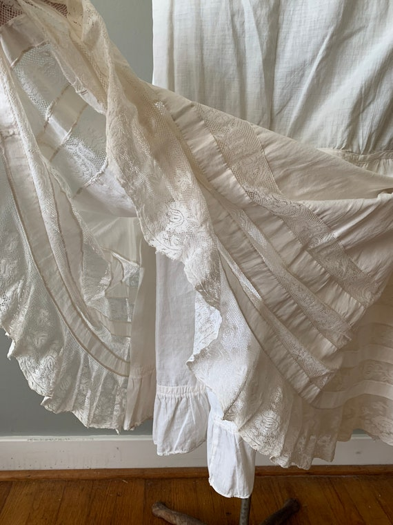 1920s Victorian Petticoat Skirt / vintage antique… - image 5