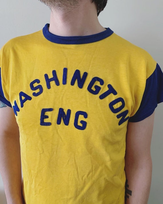 1950s Washington Engineering Durene Athletic Tee - image 2