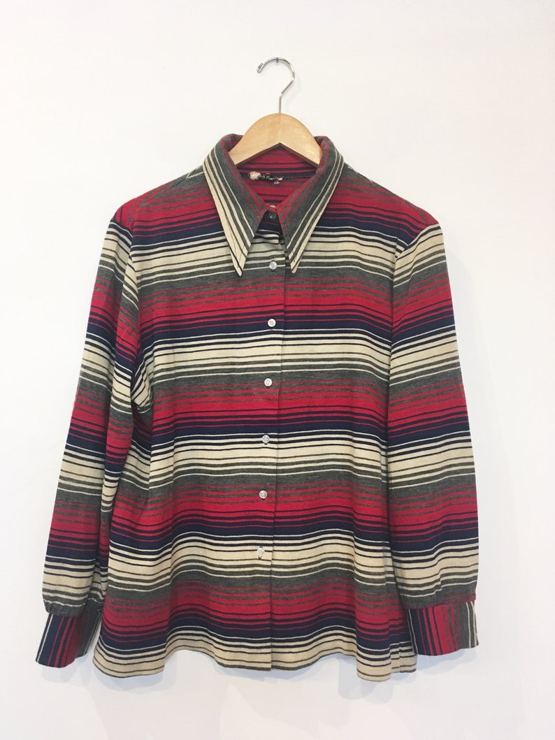 60s Striped Groovy Blouse