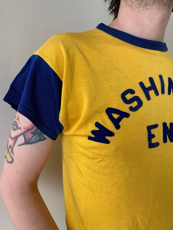 1950s Washington Engineering Durene Athletic Tee - image 3