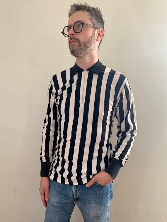 1940s Long Sleeve Referee Shirt / Vintage Durene A