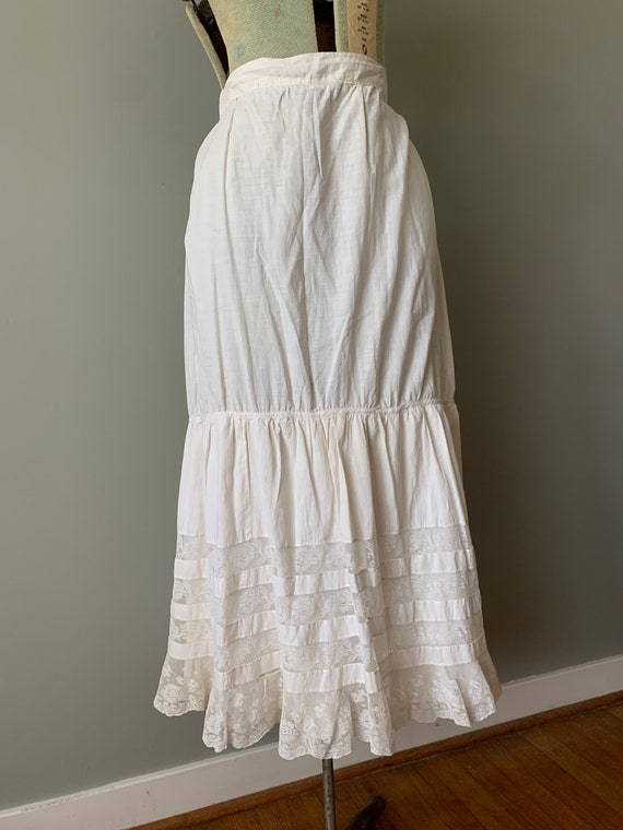 1920s Victorian Petticoat Skirt / vintage antique… - image 2