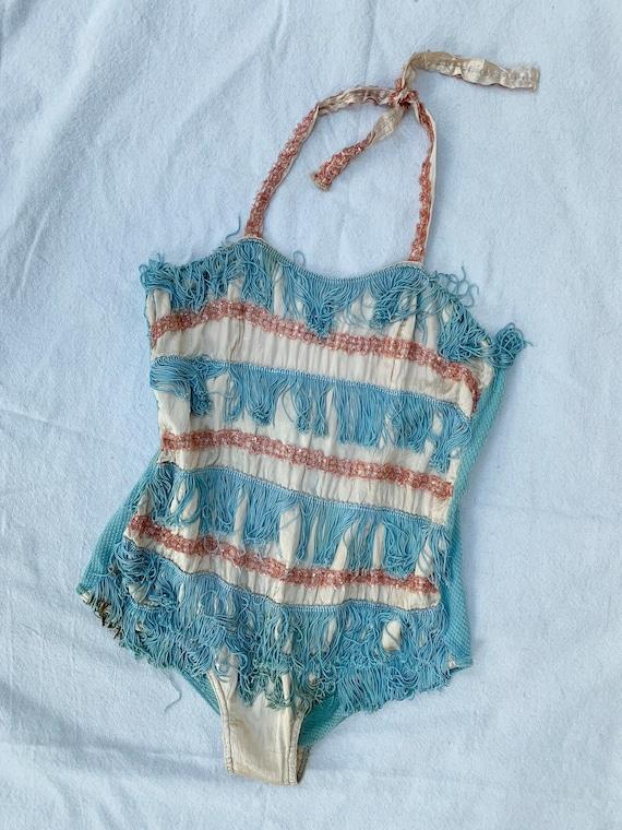 1920s Burlesque Showgirl Suit / Embellished Tassel
