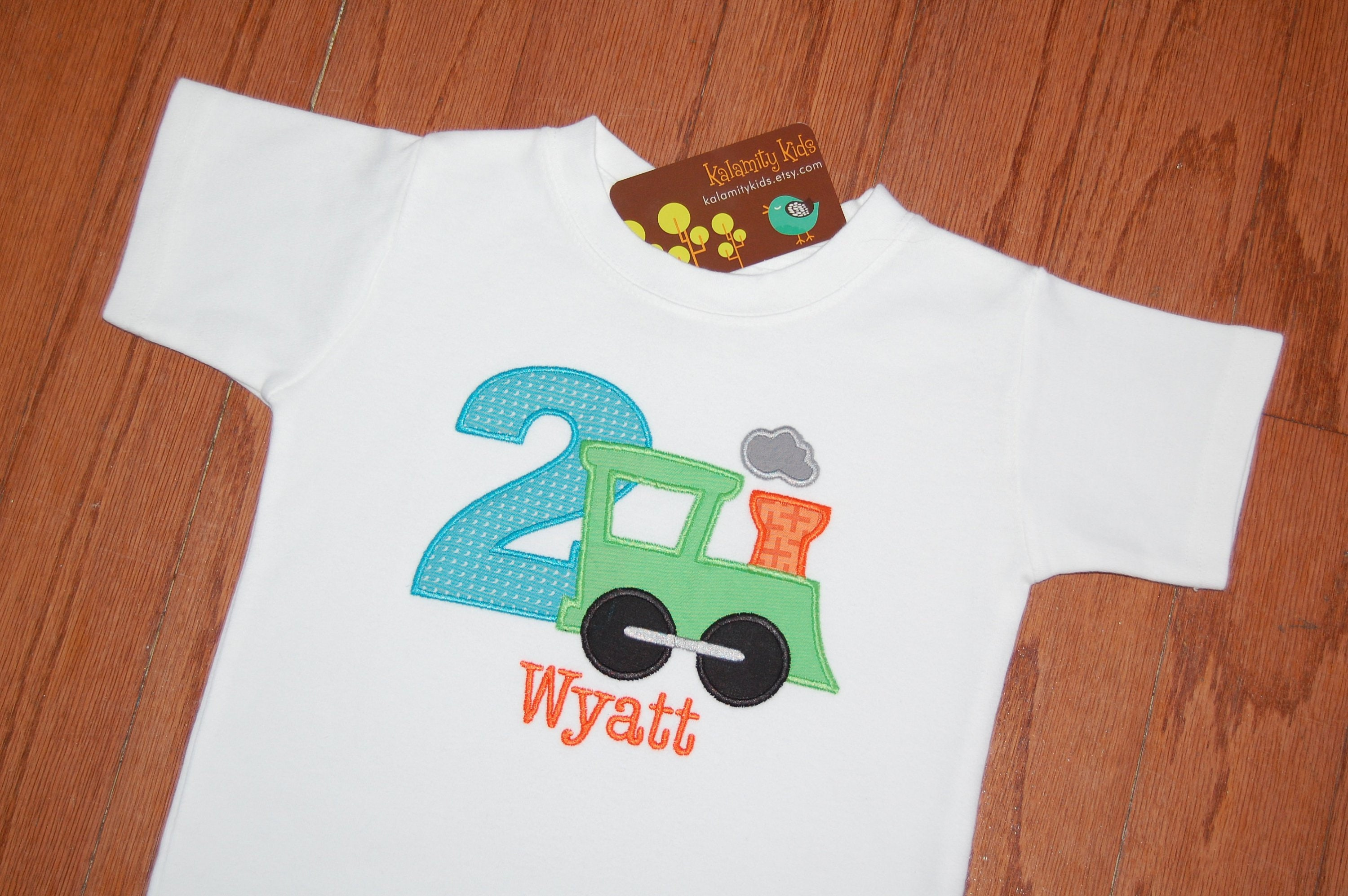 Train Birthday T Shirt Toddler Kid
