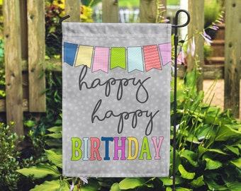 Happy Birthday Party Celebrate Home & Garden Flag