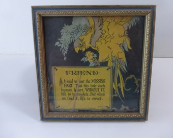 Vintage Friend Picture Wall Art Gift Art Deco