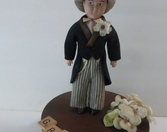 Vintage Groom Doll 1950s Dapper Doll