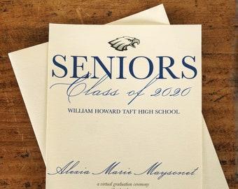 Taft Graduation Announcement Card, Graduation Party Invite, Class of 2020, Graduation Drive By Invitation Card, High School Graduation