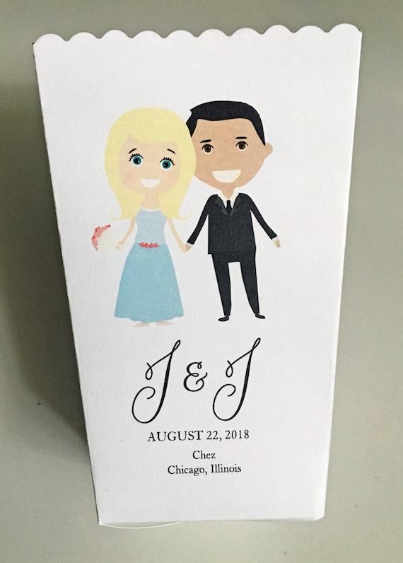 Emoji Wedding Mini Popcorn Box Personalized Bitmoji Wedding Etsy