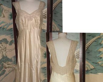 0c554044844 Vintage Heavenly Silk Lingerie by Fischer 100% Pure Silk bias nightgown  bust 40