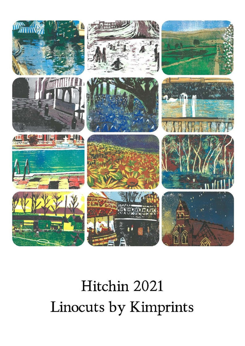 Hitchin Linocut Calendar 2021 image 0