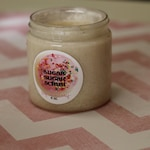 TWILIGHT - Whipped Cream Sugar Scrub - 4 oz. Jar Made with Organic Sugar and Whipped Shea Butter- Blend of Black Cherry and Raspberry