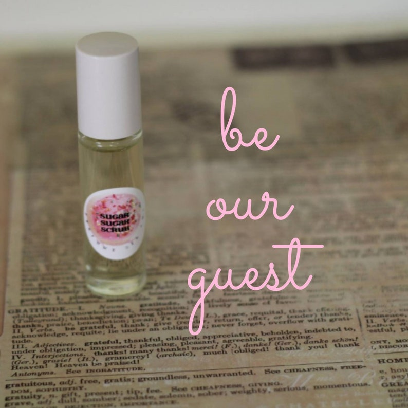 BE Our GUEST  Perfume Oil Roll On  7ml Glass Roll On Bottle image 0