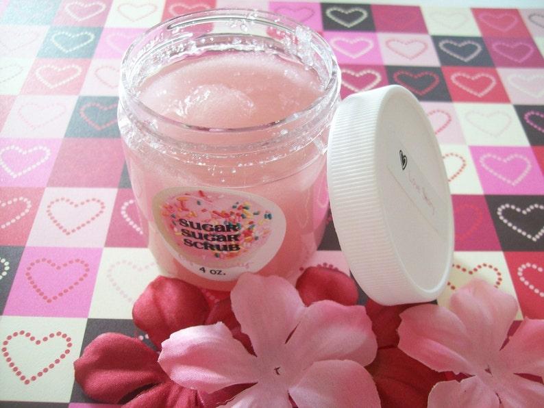 LOVE Story Sugar Scrub  Body Polish  Vegan Friendly  image 0