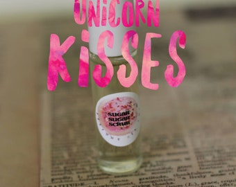 UNICORN KISSES - Blueberry + Cotton Candy + Sugar Cookies - Perfume Oil Roll On - 7ml Glass Roll On Bottle, Paraban Free - Gift for Kids