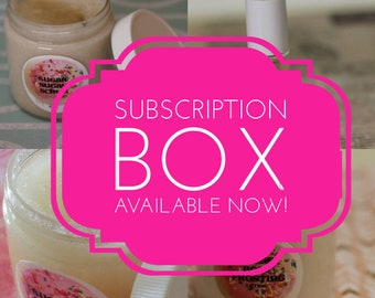 CHRISTMAS SUBSCRIPTION Box / Bag - Shipping Included - Bath and Body  - Gift for Her - Sampler Box - Box - Gift for kids - self care