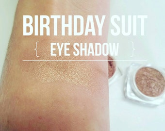 BIRTHDAY Suit Highlighter - Eye Shadow in One - Mineral Make up - NEW Larger Size 10ML Sifter jar- Vegan Eye Shadow - Pretty Nude Pink