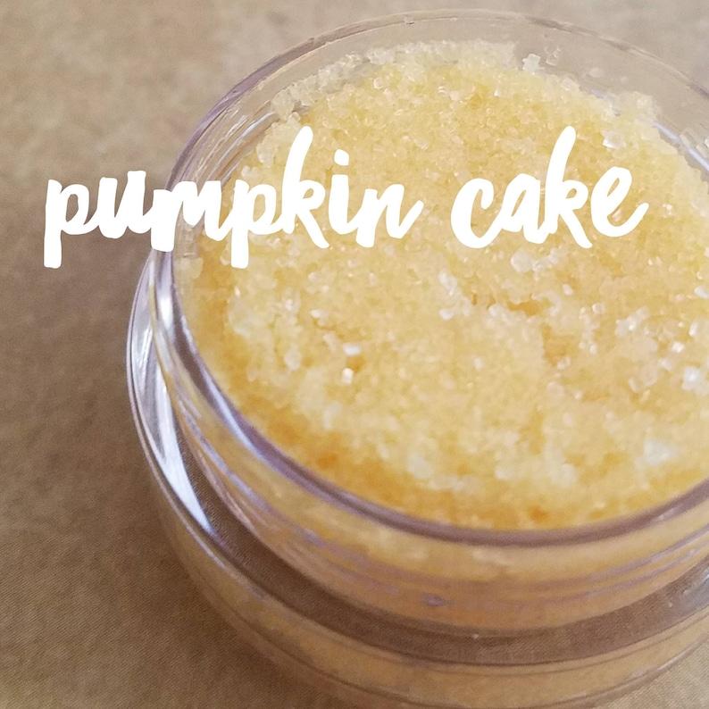 PUMPKIN CAKE Vegan Lip Scrub 1/2 oz.  Great on Dry Winter image 0