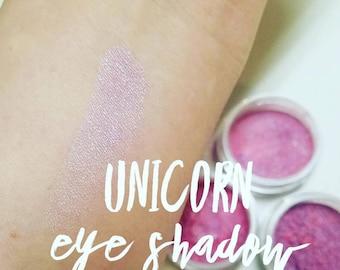 UNICORN shadow Mineral Make up EYE SHIMMERS - Vegan Friendly, Mica Powder 10ml Medium Pink purple Shimmer for EyeLid or Cheek Blush